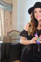 Lucy Hale Promoting Nestle Crunch Girl Scout Candy Bars - August 2014