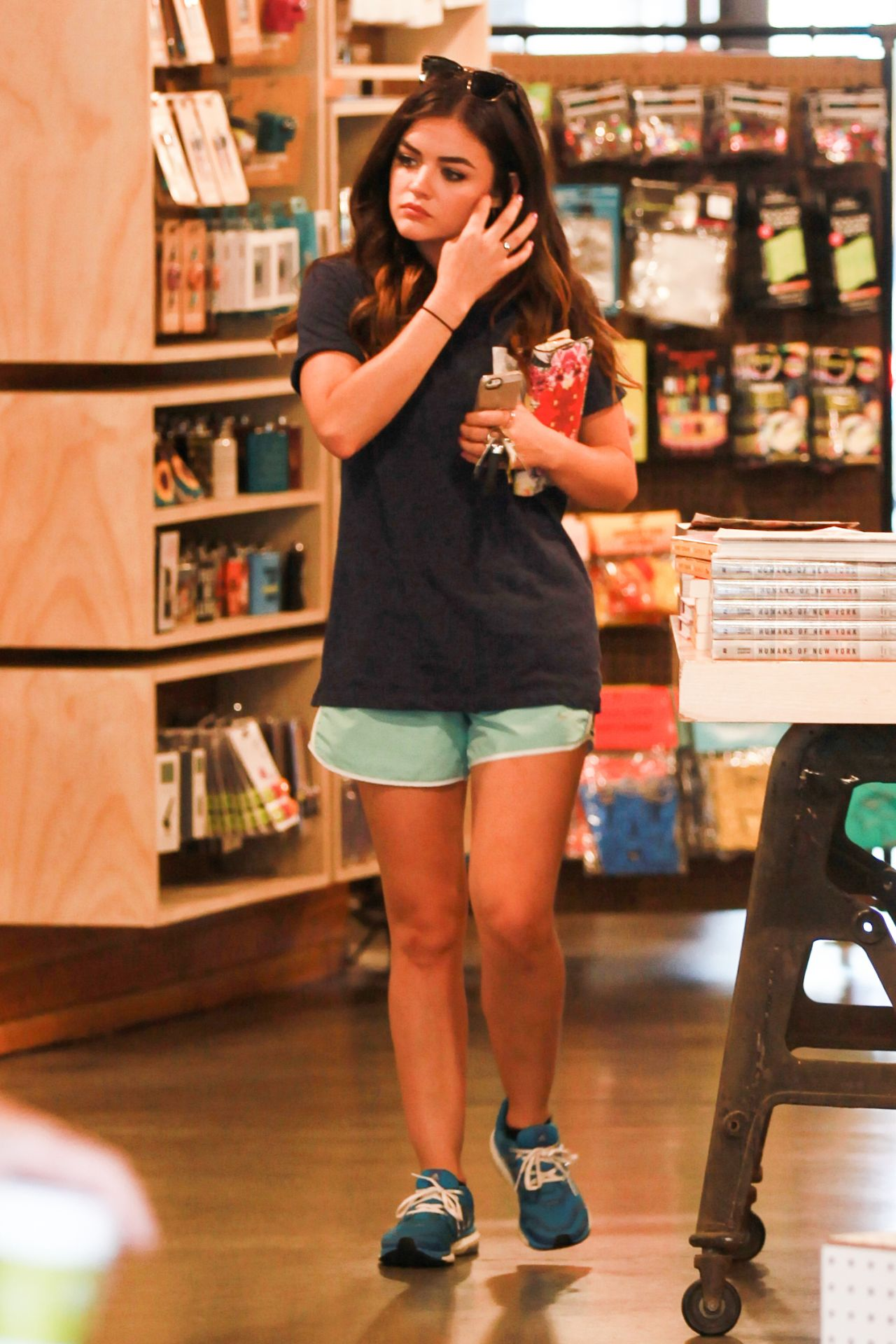 Lucy Hale Shopping At Urban Outfitters In Studio City