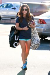 Lucy Hale Shopping at Urban Outfitters in Studio City - August 2014