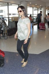 Lucy Liu at LAX Airport, August 2014
