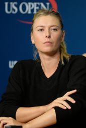 Maria Sharapova - 2014 US Open in New York City - Press Conference Preview
