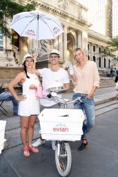Maria Sharapova - Serves Up Evian Bottle Service In New York City