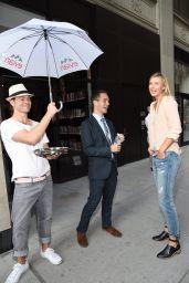 Maria Sharapova - Serves Up Evian Bottle Service In New York City