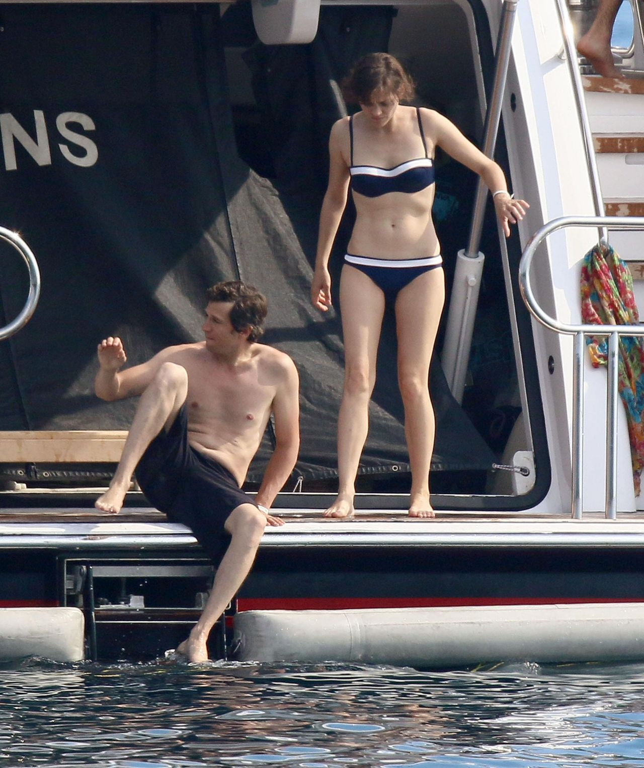 Marion Cotillard In A Bikini On A Yacht In Cannes June 2014