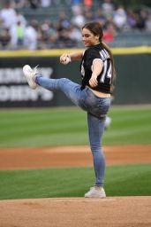 McKayla Maroney - First Pitch at Chicago White Sox Game - August 2014