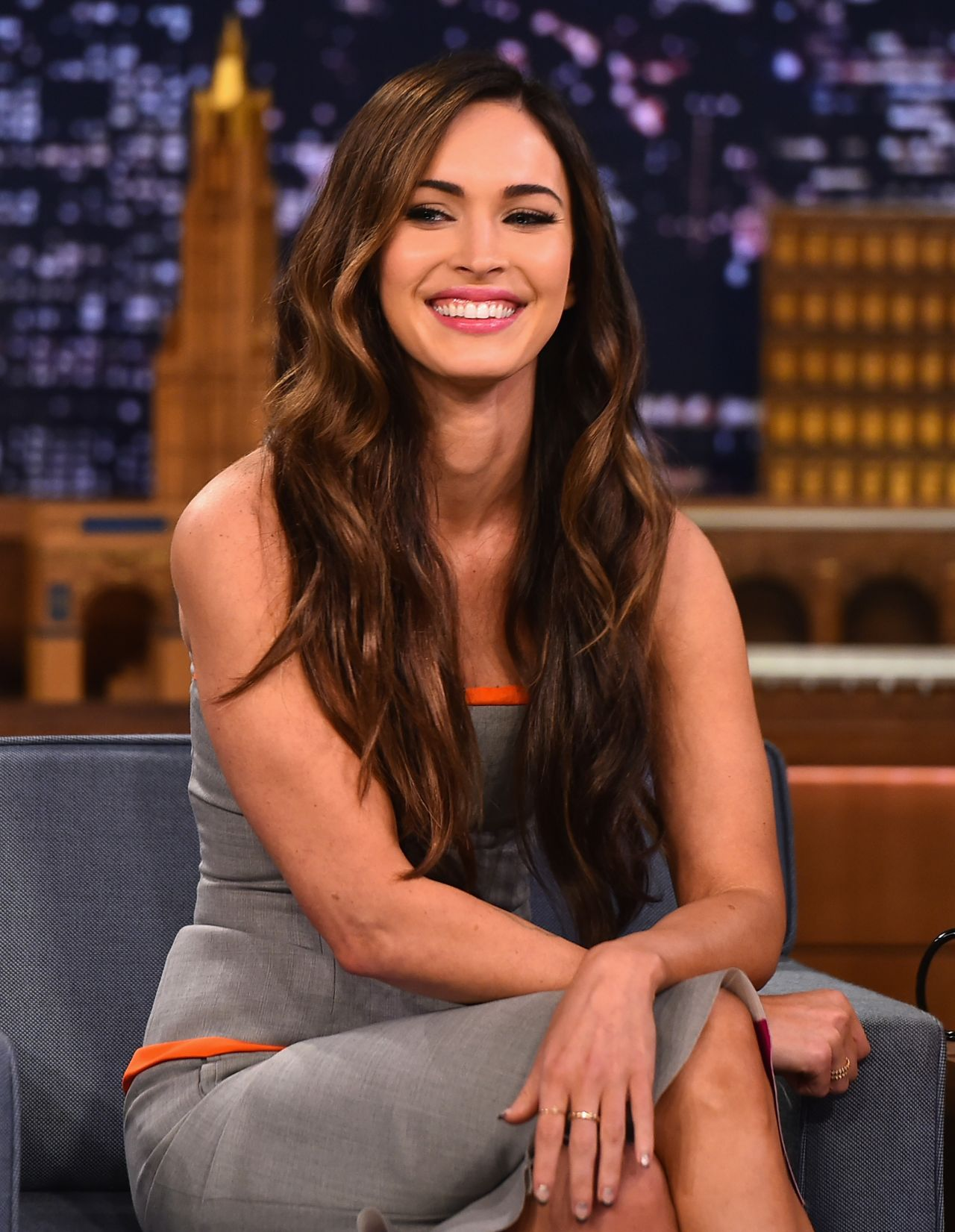 Megan Fox Appeared on The Tonight Show Starring Jimmy Fallon in NYC - August 2014