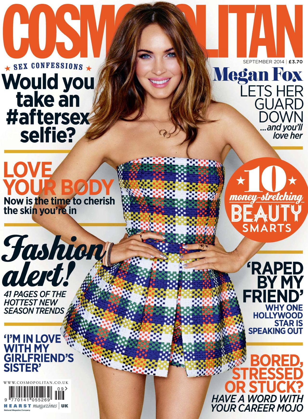 Megan Fox - Cosmopolitan Magazine (UK) - September 2014 Cover