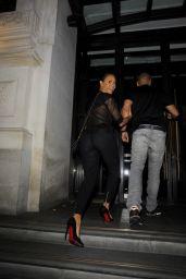 Melanie Brown Night Out Style - Novikov Restaurant in Mayfair - August 2014