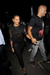 Melanie Brown Night Out Style - Novikov Restaurant in Mayfair - August 2014