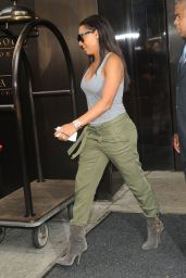 Melanie Brown Street Style - Leaving Her Hotel in New York City - August 2014