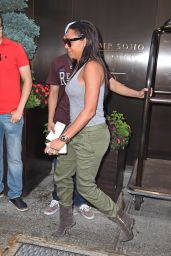 Melanie Brown Street Style - Leaving Her Hotel in New York City - August 2014
