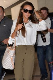 Michelle Keegan Style - Arriving at a Hotel in London - August 2014
