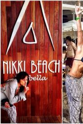 Michelle Rodriguez at Nikki Beach in Marbella - August 2014