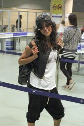 Michelle Rodriguez at the Airport in Ibiza - August 2014