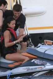 Michelle Rodriguez in Ibiza Riding Jetskis - August 2014
