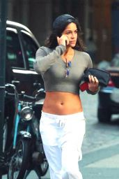 Michelle Rodriguez - Out in Soho Aug. 2014
