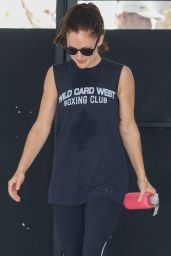 Minka Kelly - Leaving a Gym in West Hollywood - August 2014