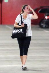 Minka Kelly & Mandy Moore in Leggings - Leaving Soul Cycle in West Hollywood