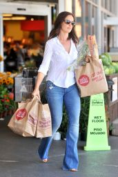 Minka Kelly - Out Shopping at Whole Foods in Los Angeles - August 2014