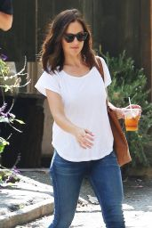 Minka Kelly - Stops By The Trails Cafe in Los Feliz - August 2014
