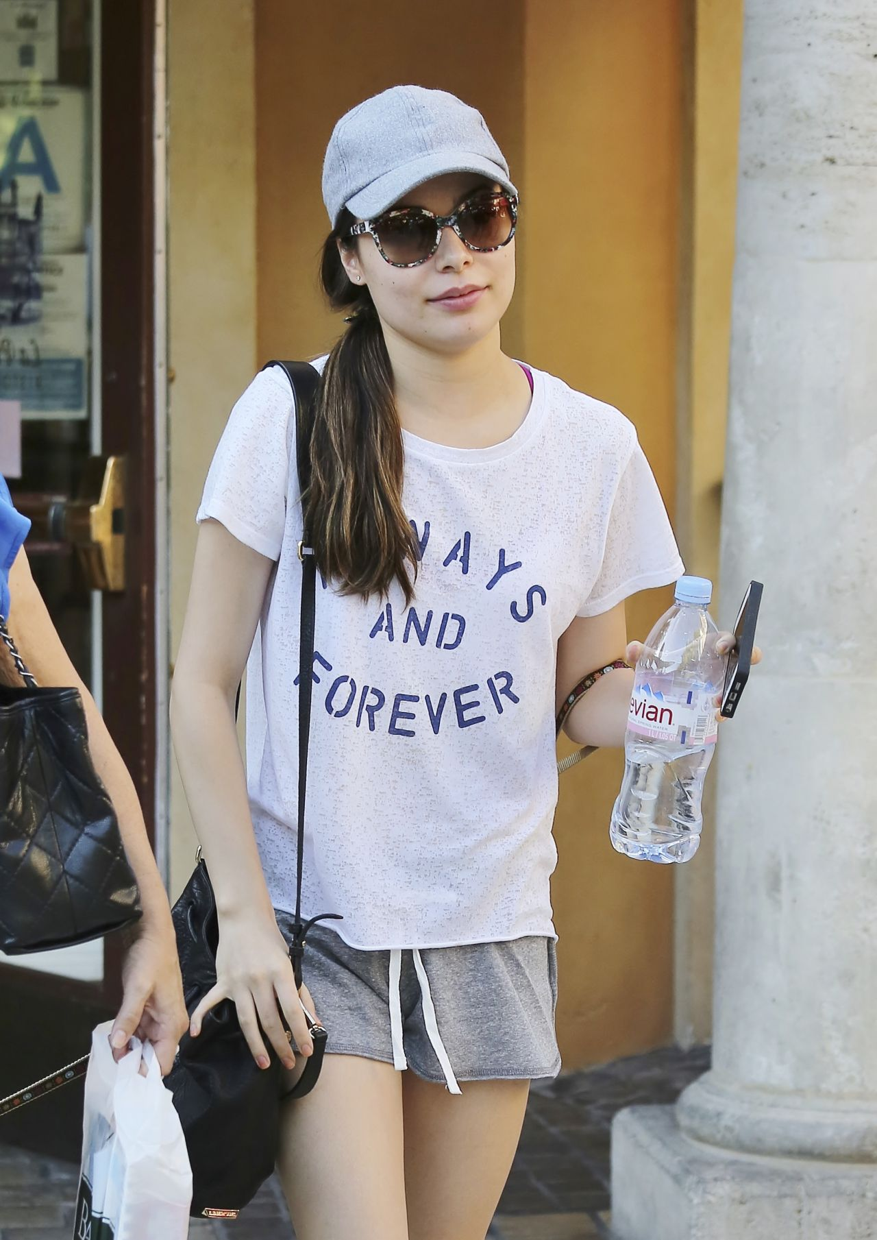 Miranda Cosgrove Leggy in Shorts at The Grove in West Hollywood - August 2014
