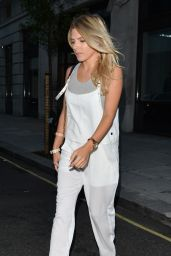 Mollie King - Leaving BBC Radio One in London - August 2014
