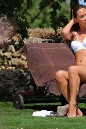 Myleene Klass in White Bikini On Holiday - August 2014