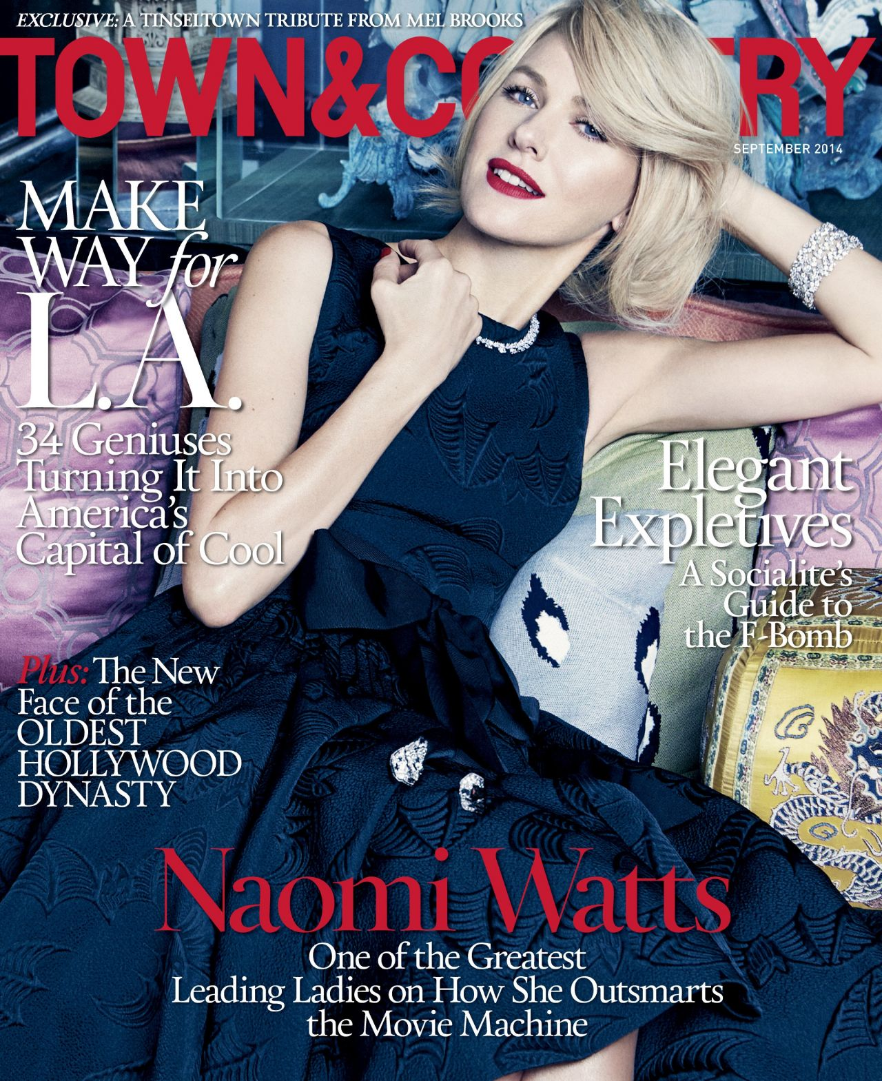 Naomi Watts - Town & Country Magazine - September 2014 Cover