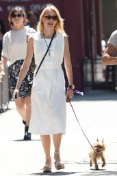 Naomi Watts Walking Her Dog in Manhattan - August 2014