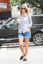 Nicky Hilton in Jeans Shorts - Out in New York City, August 2014
