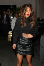 Nicole Scherzinger Night Out Style - Leaving Scotts Restaurant in London