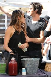 Nikki Reed - Shopping at the Farmers Market in Studio City, August 2014