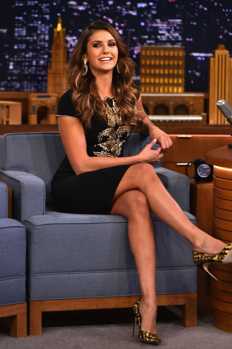 Nina Dobrev Appeared On The Tonight Show Starring Jimmy -9819