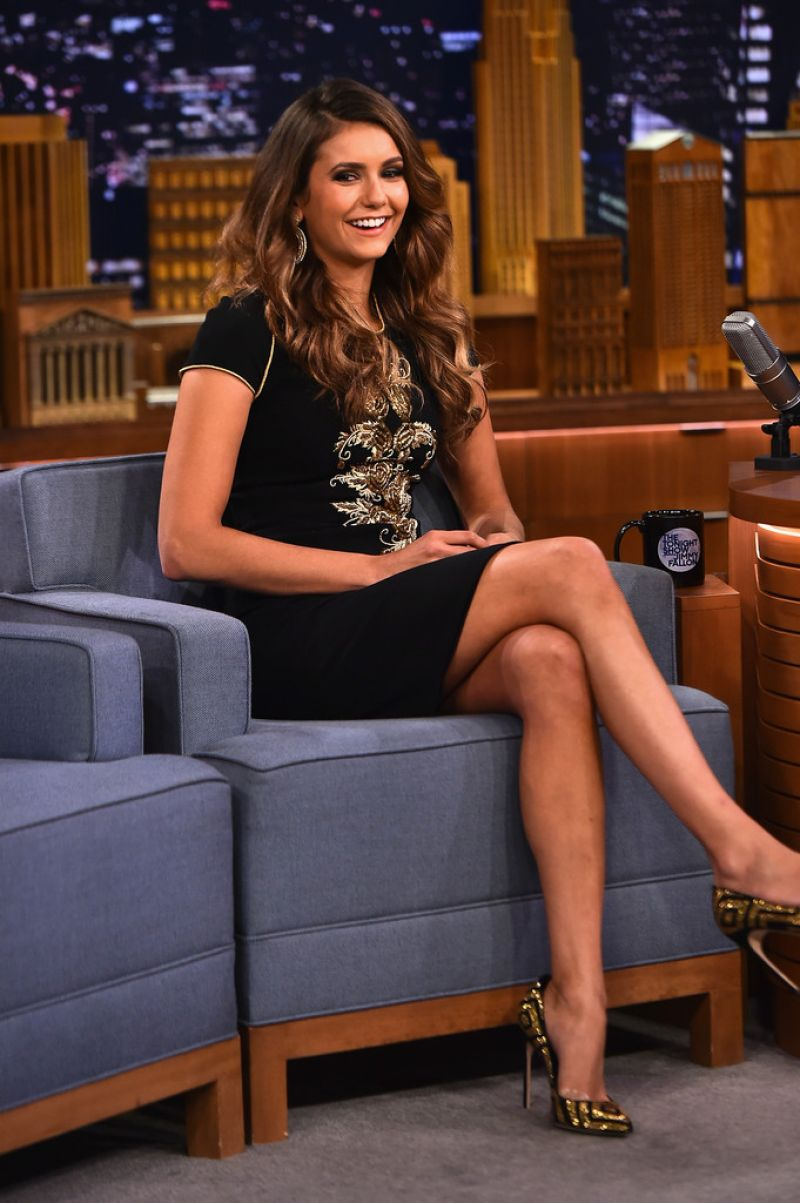 nina dobrev appeared on the tonight show starring jimmy