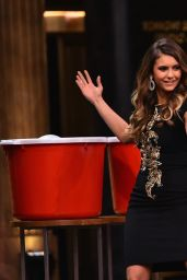 Nina Dobrev Appeared on the Tonight Show Starring Jimmy Fallon in NYC - August 2014