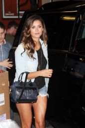Nina Dobrev Leggy - Out in New York City - August 2014