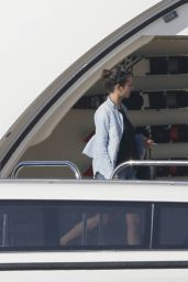 Nina Dobrev - On a Yacht in Formentera (Spain) - August 2014