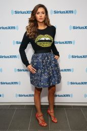 Nina Dobrev Visits SiriusXM Studios in New York City - August 2014