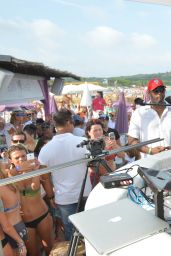 Paris Hilton - DJ Set on the Beach in Saint-Tropez - August 2014