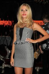 Pixie Lott Night Out Style - Arrives at Werewolf Club in London - August 2014