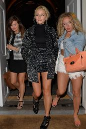 Pixie Lott Night Out Style - Leaving the Sketch Restaurant in London - August 2014