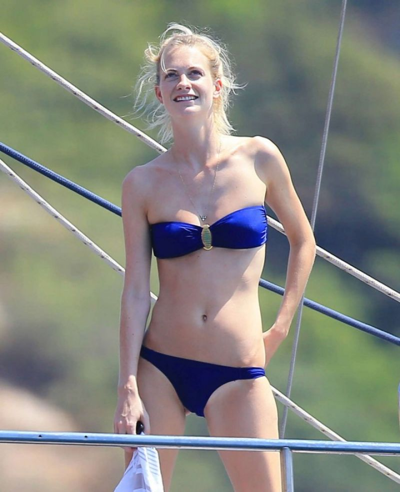 Poppy Delevingne in a Bikini in Ibiza - August 2014