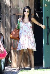 Rachel Bilson Wearing Summer Dress - Visiting a Friend in LA - August 2014