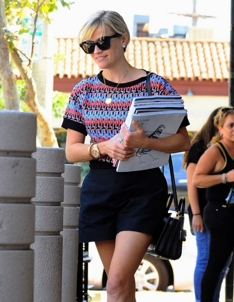 Reese Witherspoon - Out in Brentwood & Pacific Palisades, August 2014