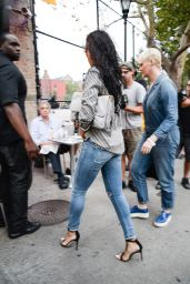 Rihanna in Ripped Jeans Arriving at Da Silvano Restaurant in New York City - August 2014