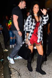 Rihanna Night Out Style - VIP Nightclub in New York City - August 2014