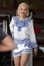 Rita Ora at a Photoshoot in Beverly Hills - August 2014