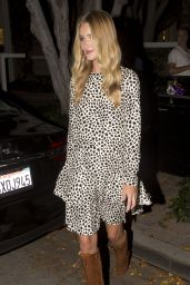 Rosie Huntington-Whiteley Night Out Style - Leaving Fig & Olive in West Hollywood, Aug. 2014