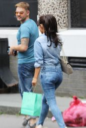 Roxanne Pallett - Leaving Soho Hotel in London - August 2014