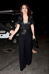 Salma Hayek Night Out Style - D